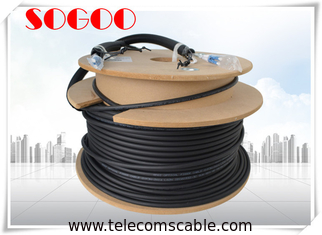 China Black Outdoor Fiber Patch Cord LC To LC Fiber Cable 75m 60m 45m 40m 10m supplier