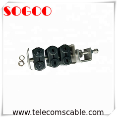 "China 3 Double Holes Feeder Coaxial Clamp For 7/8"" Cable M8 Threaded Hole factory"