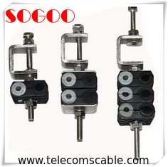 Power And Fiber Optic Coaxial Feeder Cable , 3 Ways Optical Cable Clamp