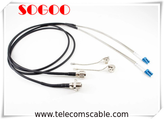 Single Mode Fiber Optic Patch Cord PDLC -LC/UPC Duplex Armored Fiber Optic Patch Cable