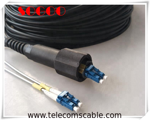 China LC Field Tactical Fiber Optic Cable , Waterproof Pigtail Outdoor Patch Cord Cable supplier