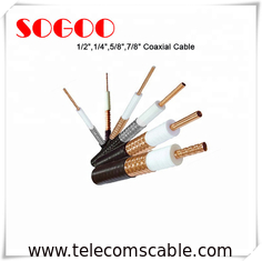 Coaxial Cable 1/2 3/4 7/8 RF Feeder Cable For Telecom RoHS Approval