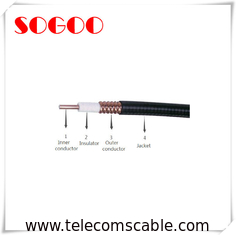 China Smooth Superflex RF Feeder Cable For Telecommucation Application factory