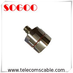 Leaky Cable Wire Connector RF N Male Coaxial Cable 1- 5/8 Connector