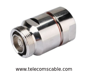 Nickel Palting Feeder Cable Connector 7/16 DIN Female With RoHS Approval