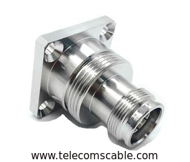 Low PIM Feeder Cable Connector / Rf Female Connector For Equipment
