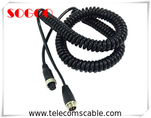 China Retractable Custom Telecom Cable Assemblies Power Cord Cable Assembly With Spring factory
