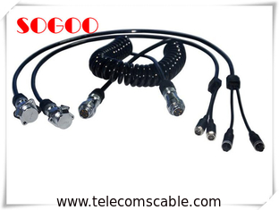 Retractable Custom Telecom Cable Assemblies Power Cord Cable Assembly With Spring