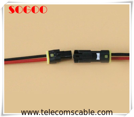 China LED Telecom Cable Assemblies TE Connector Waterproof IP67 Wire Harness factory