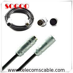 China Telecommunication AISG Connector / 6 Pin 8 Pin Straight Plug M16 Cable Assembly supplier