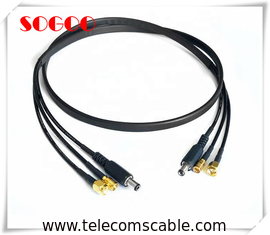 50 Ohm Copper Jumper Cables / DC 5.5x2.5 Plug SMB SMA Cable Assembly For RF