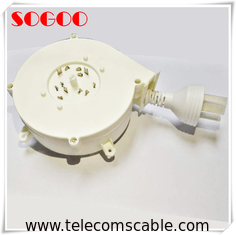 Vacuum Cleaner Telecom Cable Assemblies Retractable Power Cord Reel CE Standard
