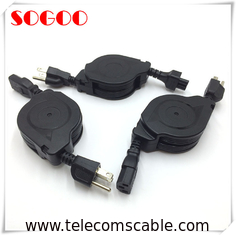 China Custom Length Retractable Power Cord / Power Cable Assembly For Hair Straightener factory