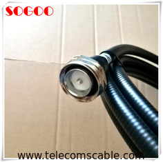 "China 5m 1/2"" superflexible cable 7/16 Din Male To Male Connector for RRU factory"