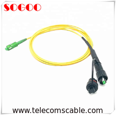 Waterproof Fiber Optic Connectors SC Outdoor FTTA Patch Cord 7.0 Mm Wire Diameter
