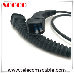3m / 5m CPRI Fiber Optic Patch Cord , Outdoor Fiber Optic Patch Cable With NSN Boot DX LC Connector
