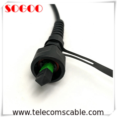 ODVA MPO Fiber Optic CPRI Cable , Fiber Optical Cable 12 Core MPO Trunk Cable