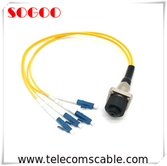 ODC Connector Socket Female Fiber Optic Cable , Indoor Fiber Optic Cable Customized Length
