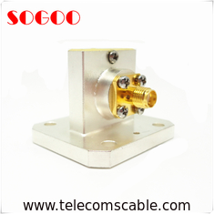 0.32 - 100GHz Waveguide To Coaxial Adapter Equivalent WR284 WR187 WR159 CE / RoHS Certification
