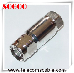"1/2"" Feeder Cable N Male Coaxial Connector Nickel / Gold Plating CE / RoHS"
