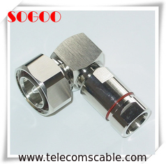 "China Precision 7/16 DIN Right Angle Coaxial Connector For 1/2"" Superflex Feeder Cable factory"