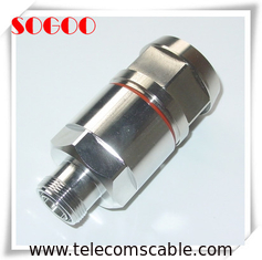 "1 - 5/8"" Feeder Cable Connector DIN / 7 / 16 Male Female RF Connector"