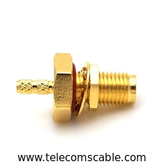 Copper Waterproof RF Connector / Cable Wire Connector Nickel / Gold Plating
