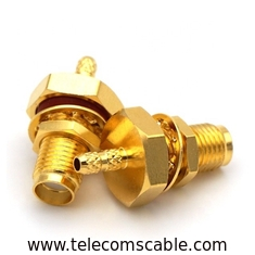 China Copper Waterproof RF Connector / Cable Wire Connector Nickel / Gold Plating supplier