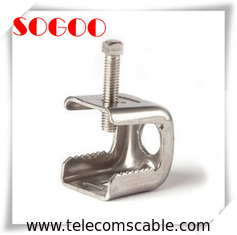 Double Hole Type Coax Cable Standoff Brackets / Standoff Clamp Sus304 Material