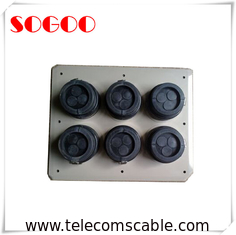 IP65 Rubber Flexible Entry Boot / 8 Hole Boots Corrosion Resistance