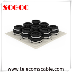 Black Rubber Seal Cable Entry Plate Aluminum Alloy Wall Entry For Tower System