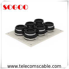 6 Panel Cap Cable Entry Boots Waterproof Feeder Window For Different Diameter Coaxial Cable