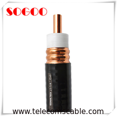 "50Ohm Corrugated Tube RF Feeder Cable 1 - 1/4"" Coaxial Feeder Cable Copper Conductor"