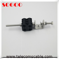 China M8 Threaded Hole Feeder Cable Clamp SUS304 PP Rubber For Base Station factory