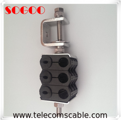 China Plastic C Feeder Cable Clamp Through Type Three Ways Universal Telecom Parts factory