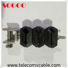 China Power And Fiber Optic Coaxial Feeder Cable , 3 Ways Optical Cable Clamp factory