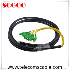 China 5.0mm Diameter Outdoor Fiber Patch Cable Armored Fiber Optic Cable Black Color factory
