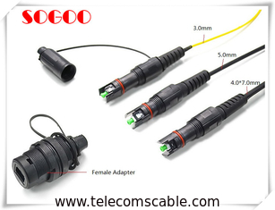 China IP67 Waterproof Military Outdoor Fiber Patch Cable For Passive Optical Networks factory