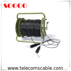 China Deployable Outdoor Fiber Patch Cable Tactical Fiber Optic Cable Reel 500 Meter factory
