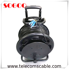 China Portable Telecom Outdoor Fiber Patch Cable Military Retractable Tactical Optical Cable Reel factory