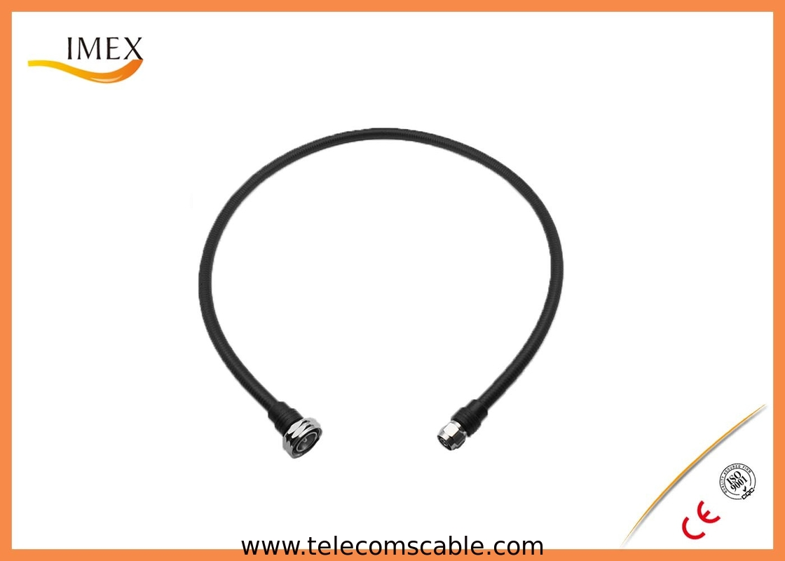 Flexible Rf Cable Assembly : Quot super flex jumper cable ohm corrugated rf