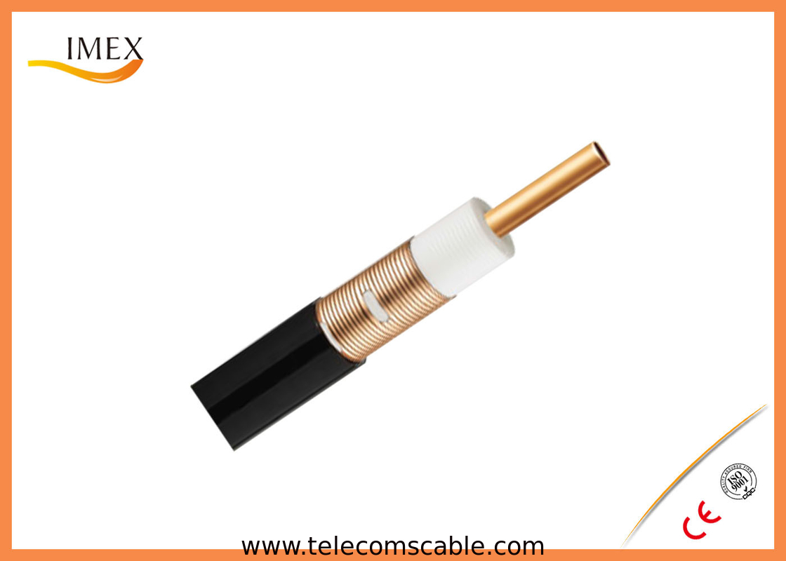 Corrugated Control Cables : Low frequency quot radiating leaky feeder coaxial cable