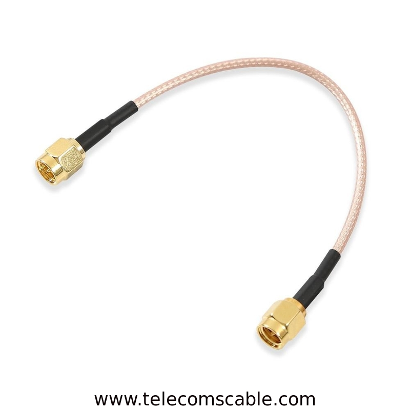 "Rg316 Antenna Sma Male To Male Cable 6""  15cm Brass With Gold Plating supplier"