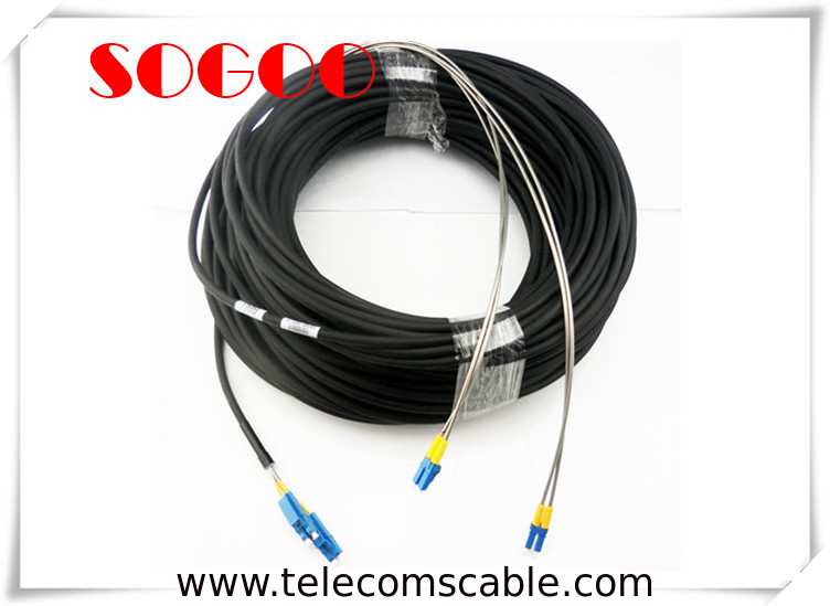 75M CPRI Fiber Cable 2 Cores DLC SM / MM With Both End Socket Protection supplier