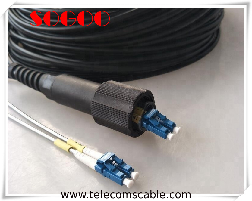LC Field Tactical Fiber Optic Cable , Waterproof Pigtail Outdoor Patch Cord Cable supplier