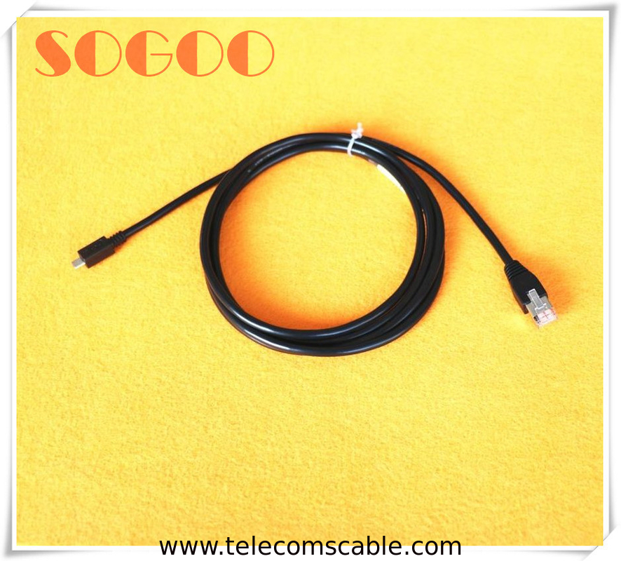 10 Pin Base Station Cable 5.0mm Foil Shield Cable 2 Drain Ground Micro B Usb To Rj45 supplier