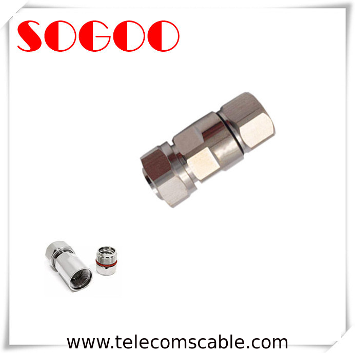 Male MINI DIN Male Straight Connector For 1/2 Flexible Feeder Cable supplier