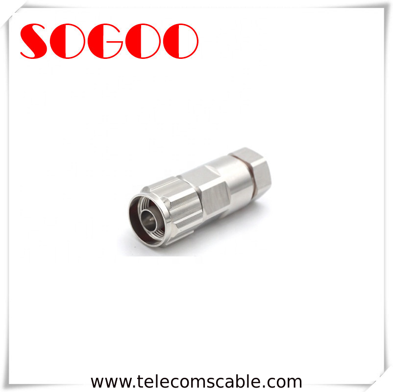 IP65 Waterproof RF Connector / N Male Adapter Connector For 1/2 Coaxial Cable supplier