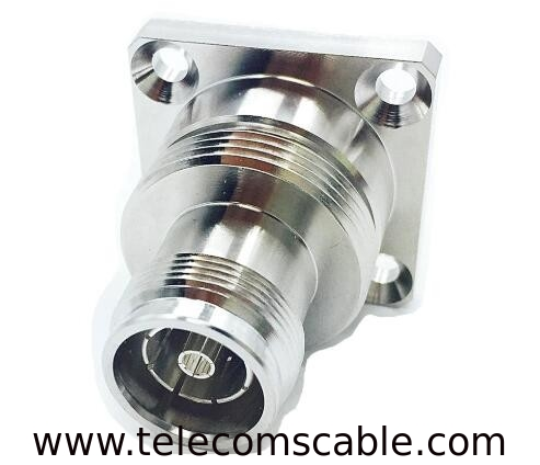 Low PIM Feeder Cable Connector / Rf Female Connector For Equipment supplier