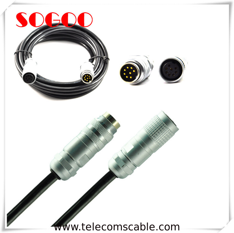 Telecommunication AISG Connector / 6 Pin 8 Pin Straight Plug M16 Cable Assembly supplier